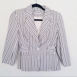 Karen Millen Striped Trench Style Blazer